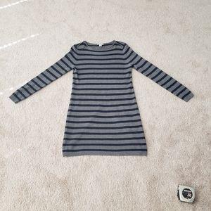 Loft striped sweater dress ribbed hems
